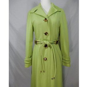 Vintage Hartley Westwood & Count Romi Lime Green Gold Accent Coat